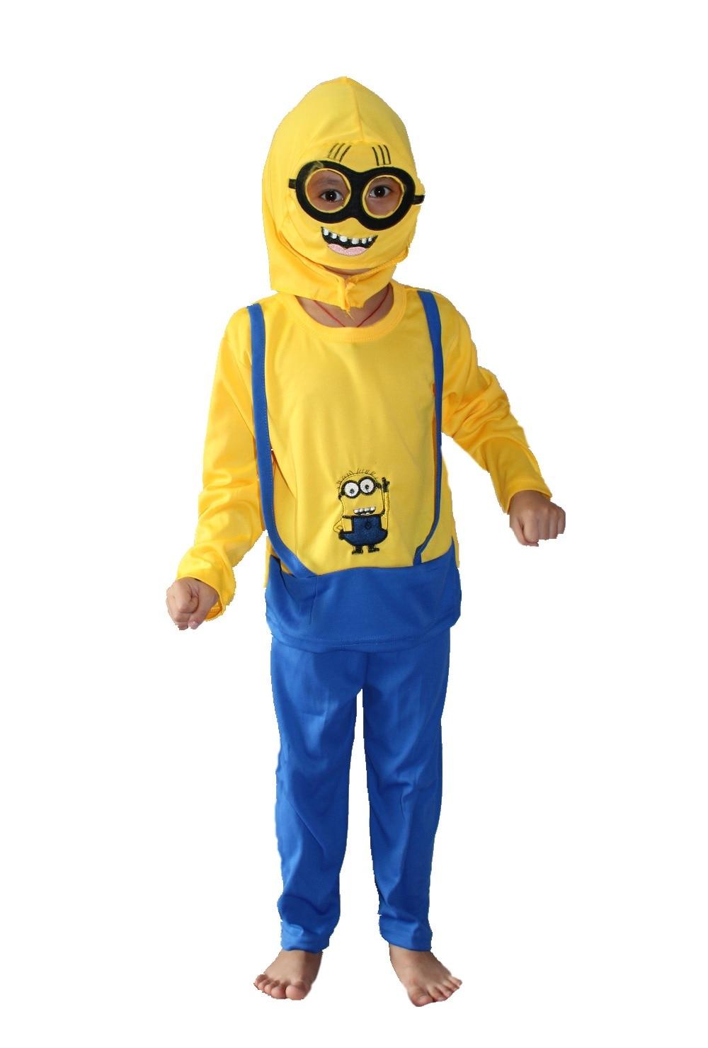 3 - 7 жыл Halloween Party costumeskids Ұзын жейде Despicable Рөлдік киім, Minion roll play Тегін жүк тасымалдау