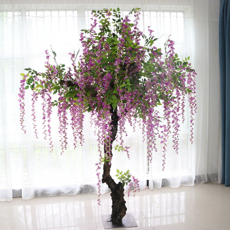 Artificial Wisteria Tree Large Simulation Tree Hotel Lobby Plaza