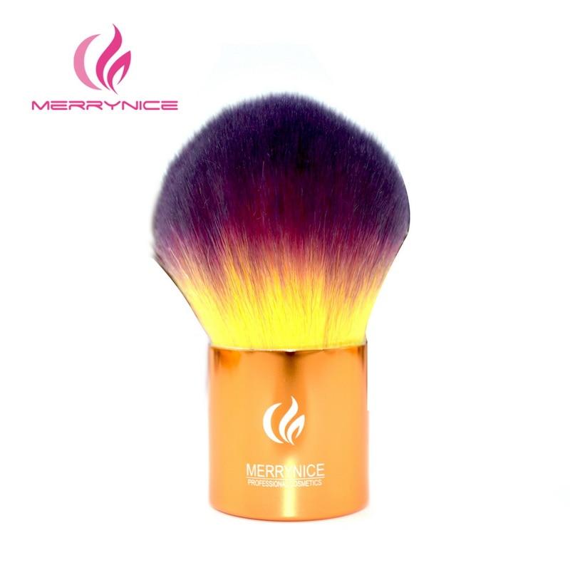 Merrynice Professional Makeup Brush Foundation Powder beauty Brush Cosmetic Make up brushesTool Wooden Kabuki Make up