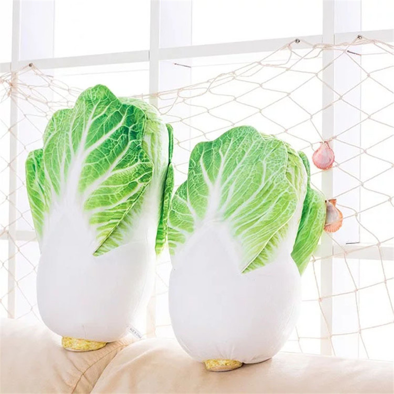 Creative Chinese Cabbage Plush Toy Home Decoration Vegetable Doll Christmas Present Soft Pillow Kids Toys Baby