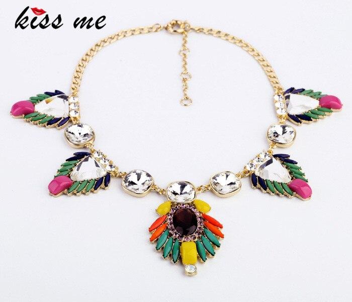 Богемные ювелирные изделия KISS ME модные аксессуары для Бохо Дизайн Кристалл Короткое этническое ожерелье