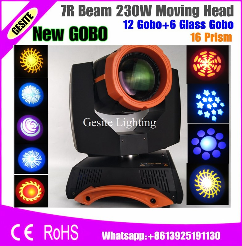 2pcs/lot Sharpy 230W Beam 7R Moving Head Light with Flight Case 2PCS DMX for DJ 6pcs lot white color 132w sharpy osram 2r beam moving head dj lighting dmx 512 stage light for party