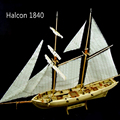 Frete grátis halcon 1840 veleiro modelo de navio modelo de corte a laser de madeira brinquedo educacional diy modelo de navio barco