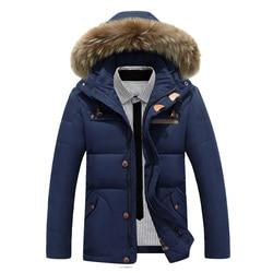 Winter jacket men parkas fashion warm goose down jacket male hooded casual overcoat hood fur jacket.jpg 250x250
