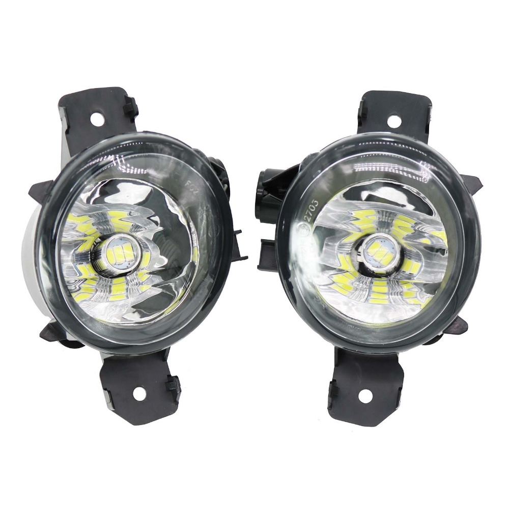 2Pcs Car LED For BMW 1 Series E81 E82 E87 2008 2009 2010 2011 2012 2013  LED Car-Styling Front LED Fog Light Fog Lamp hot sale abs chromed front behind fog lamp cover 2pcs set car accessories for volkswagen vw tiguan 2010 2011 2012 2013