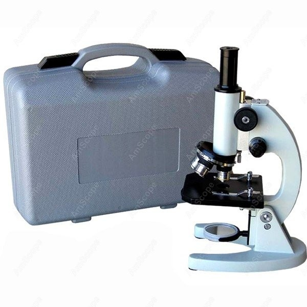 Glass Lens Biology Student Microscope--AmScope Supplies 40X-640X Metal Body Glass Lens Biology Student Microscope with ABS Case  цены