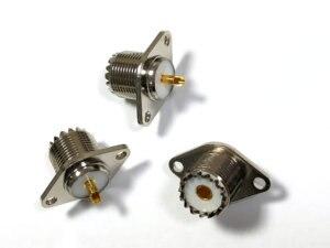 Image 5 - 20 個真鍮 uhf SO239 女性 2 穴フランジはんだパネルマウントアダプタ