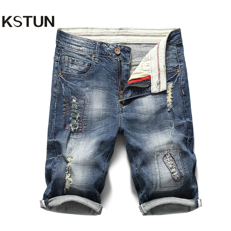 Free Shipping 2018 New Summer Thin Fabric Men s Business Casual Jeans Mid Waist Plus Size