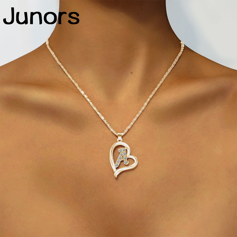 Gold Silver Initials Letter Fashion Mom Necklace Women Gadis Love Statement Necklace For Women Alphabet Letters Jewelry Gifts