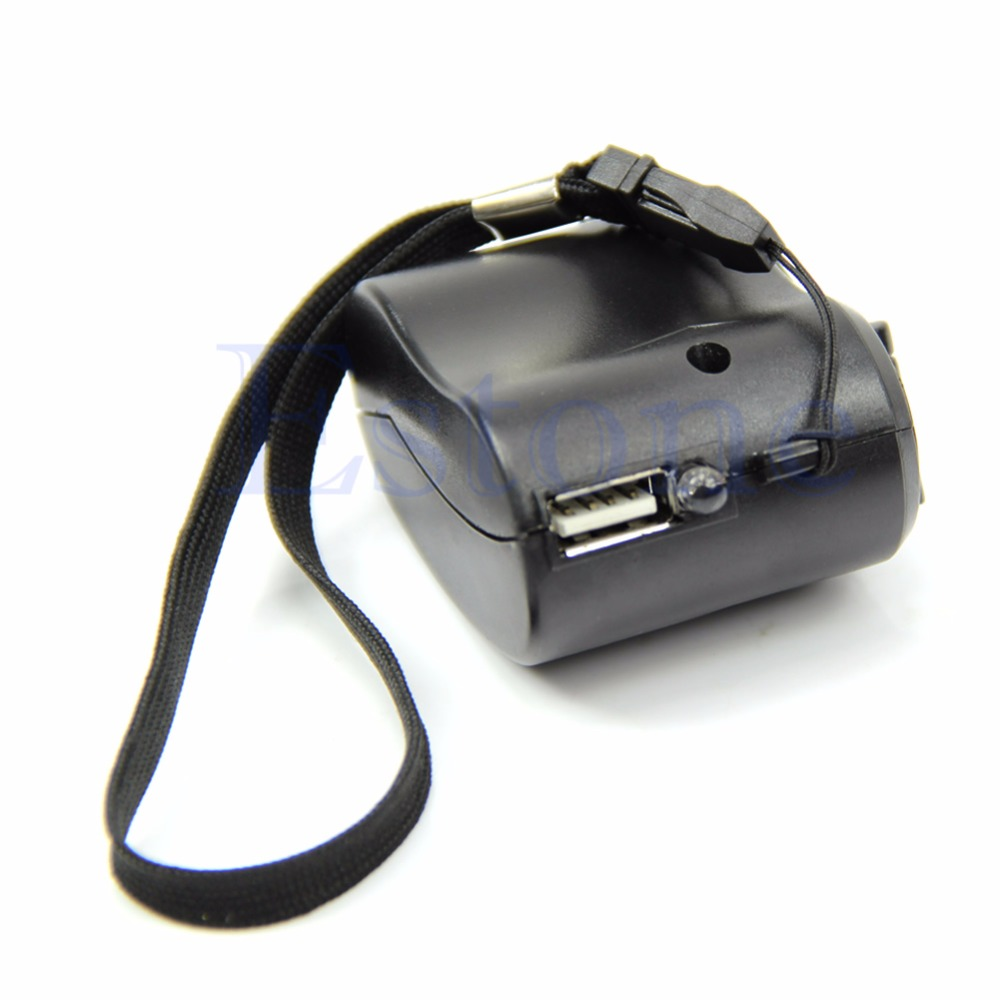 TCAM Emergency Hand Crank Charger Cell Phone USB Manual Dynamo For Mobile PDA MP3 MP4