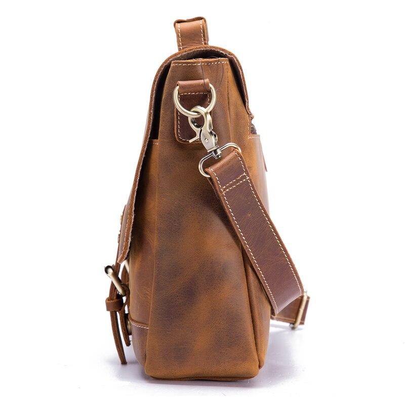 Мужской портфель из натуральной кожи из воловьей кожи в стиле ретро, мужская повседневная сумка мессенджер, сумки Bolsa, деловая сумка через плечо для мужчин - 5
