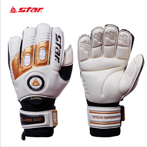 ФОТО Brand star mens professional goalkeeper gloves match game goalie gloves cool PU&Letax soccer goalie gloves on sale