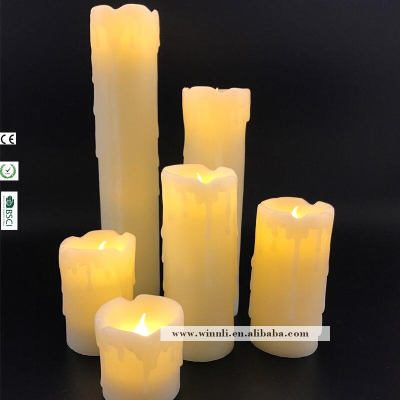 Amazing 6 Stücke LED Flackern Tropft Wachs Kerzen Geschmolzen Top Home Dekorative  Schöne Flammenlose Kerzen In 6 Stücke LED Flackern Tropft Wachs Kerzen  Geschmolzen ...
