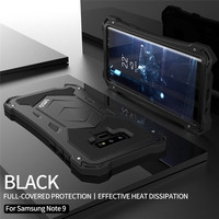 R JUST Original Metal Phone Case for Samsung Note 9 Aluminum Silicone Luxury Steel Case Full Protection Cover