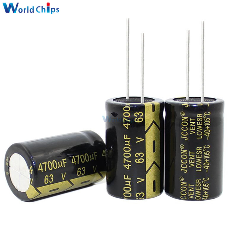 Aluminum Electrolytic Capacitor 63V 4700uF 22x35mm High Frequency Low ESR 63V4700μF 22*35mm Capacitor