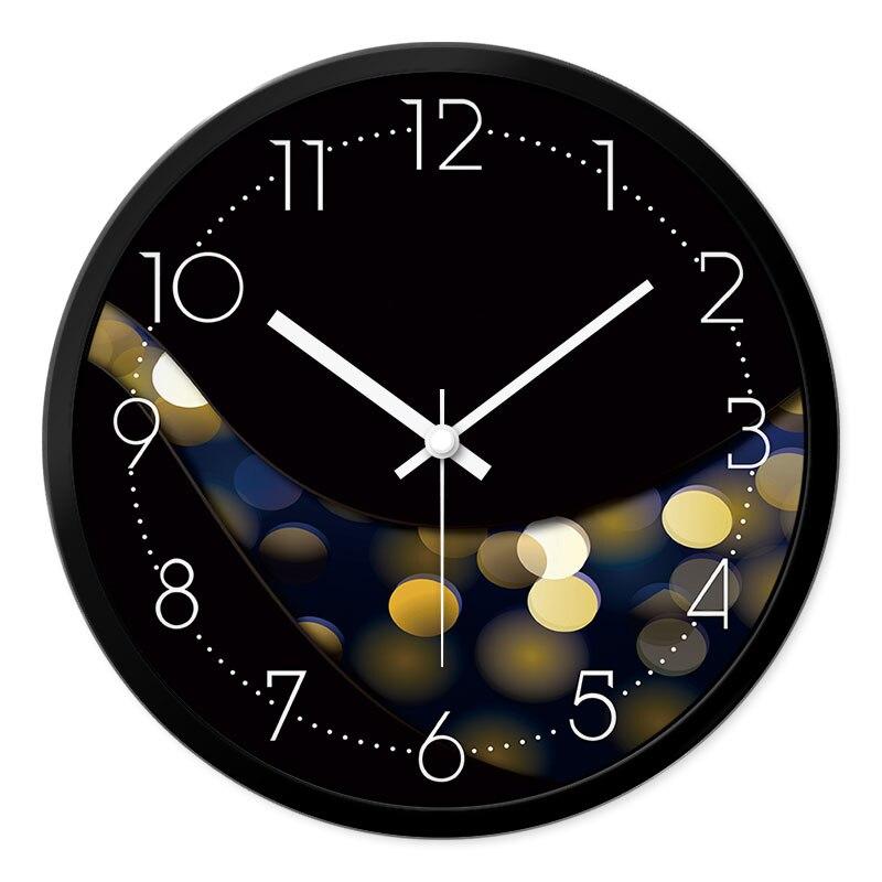 Nouveau Moderne Muet Horloge Murale Accueil Décoratif Conception Duvar Saati Mur Décoration Cercle Pointeur Quartz Reloj la pared