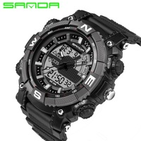 Relogio Masculino Sanda Men Sports Watches Waterproof Fashion Casual Quartz Watch Digital S Shock Military Sports