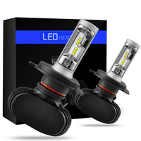 Universal 2PCS Lot Car Styling Car 12V Headlights Bulbs 6500K White CSP Chips 50W Automobiles LED