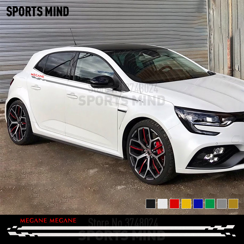 1 Set For Renault Megane 3 Ii I 4 RS GT Line Trophy Accessories Door Side Stripe Car Sticker Decal Automobiles Car Styling