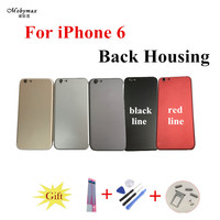 Chassis Back Housing Battery Cover Coque Fundas For IPhone 6 A1586 A1549 Case4 7 LOGO Buttons