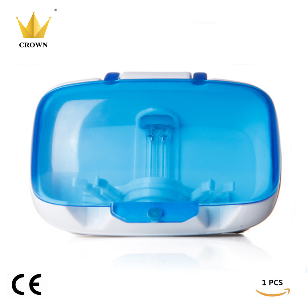 1BOX/lot Crown Box Toothbrush Sanitizer Sterilization Holder Cleaner Home Health Dental Care image