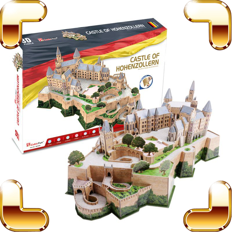 New Arrival Gift Castle Of Hohenzollern 3D Puzzle Model Building Construction DIY House Decoration Educational Toys Adult Puzzle