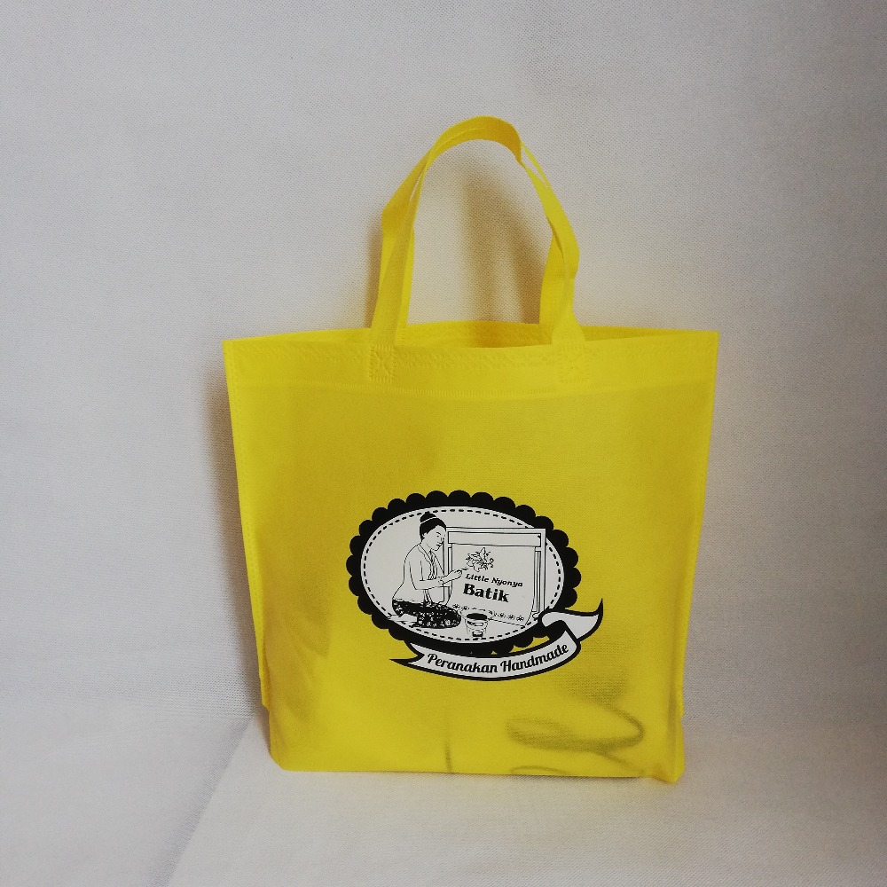 Wholesale 500pcs lot Promotional Gift Shopping Bag Custom Logo Printing Reusables Non Woven Grocery Tote Bags
