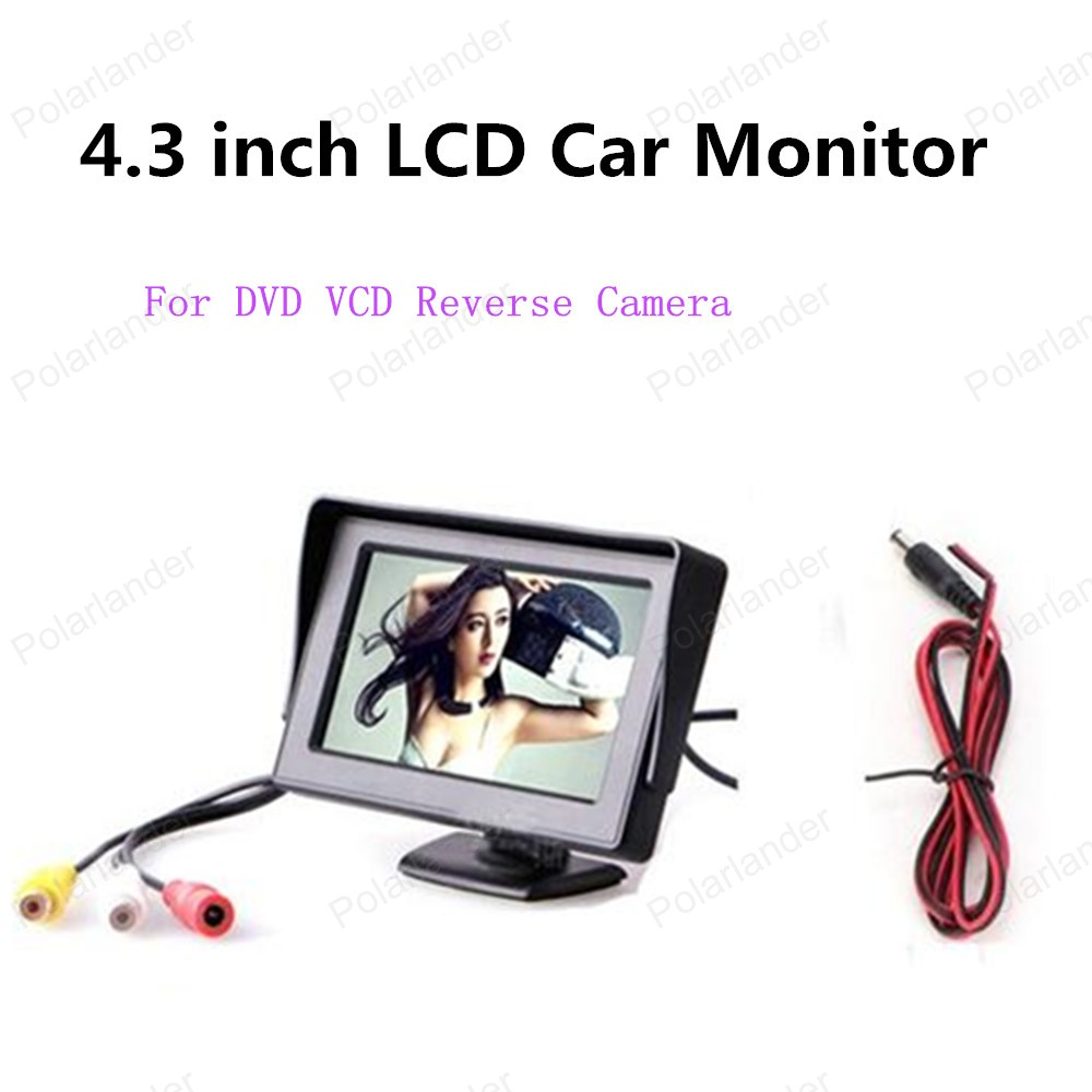 new! Mini 4.3 inch TFT LCD Car Parking Monitor with 2-channel video input For DVD VCD 170 Angle Reverse Camera
