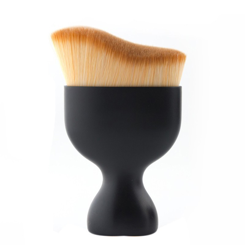Flazea S Shape Contour Foundation Brush BB Cream Makeup Brushes Loose Powder Brush Multifunctional Makeup Brushes in Eye Shadow Applicator from Beauty Health