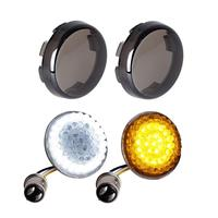 For Harley FXSB FXDL FLHR FLS Amber/ White color 1157 base Motorcycle light Front Turn Signal Light Smoke Lens W/Diode LED Panel