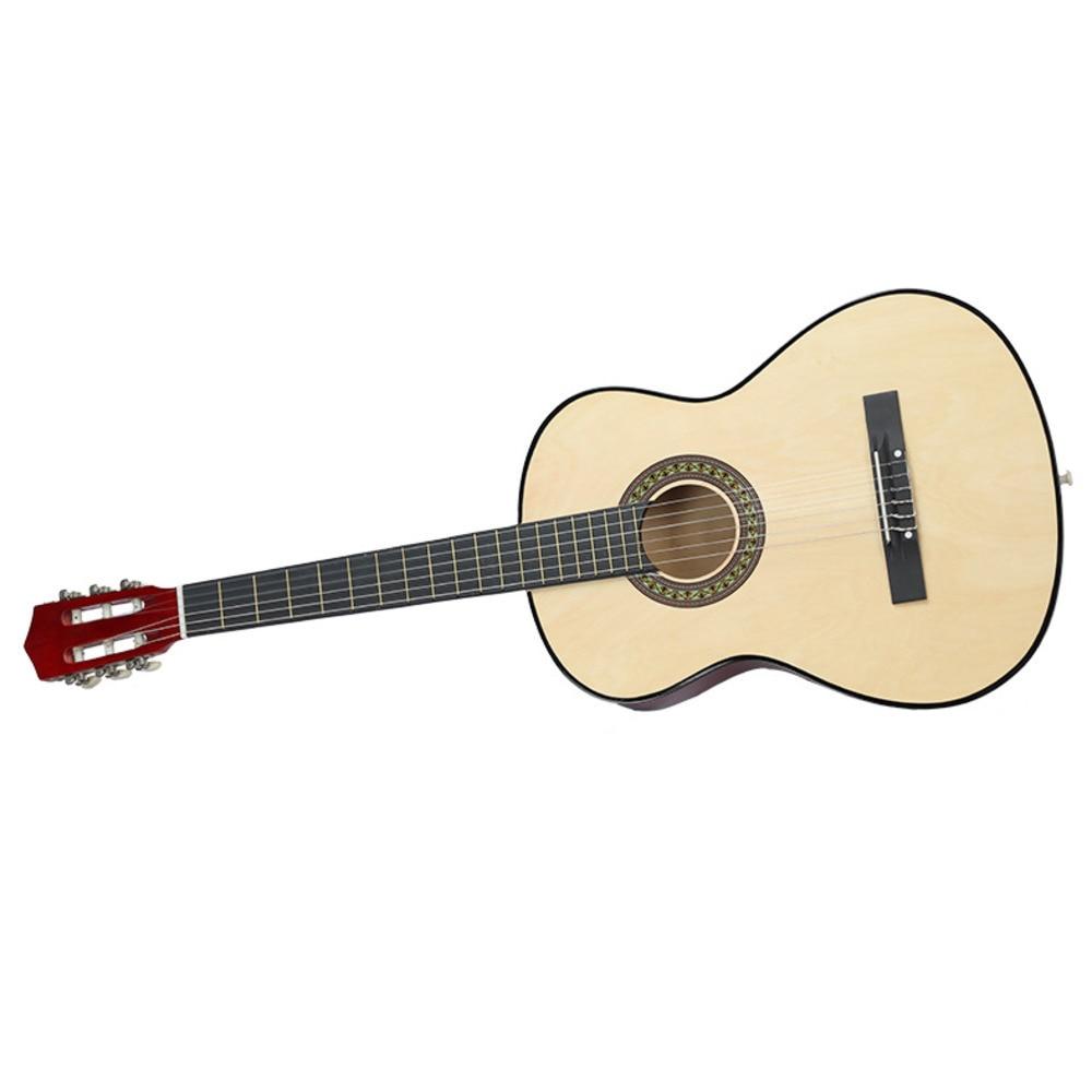 38 Inch klasická dřevěná kytara Začátečník Praxe Hudební - Školní a vzdělávací materiály - Fotografie 5