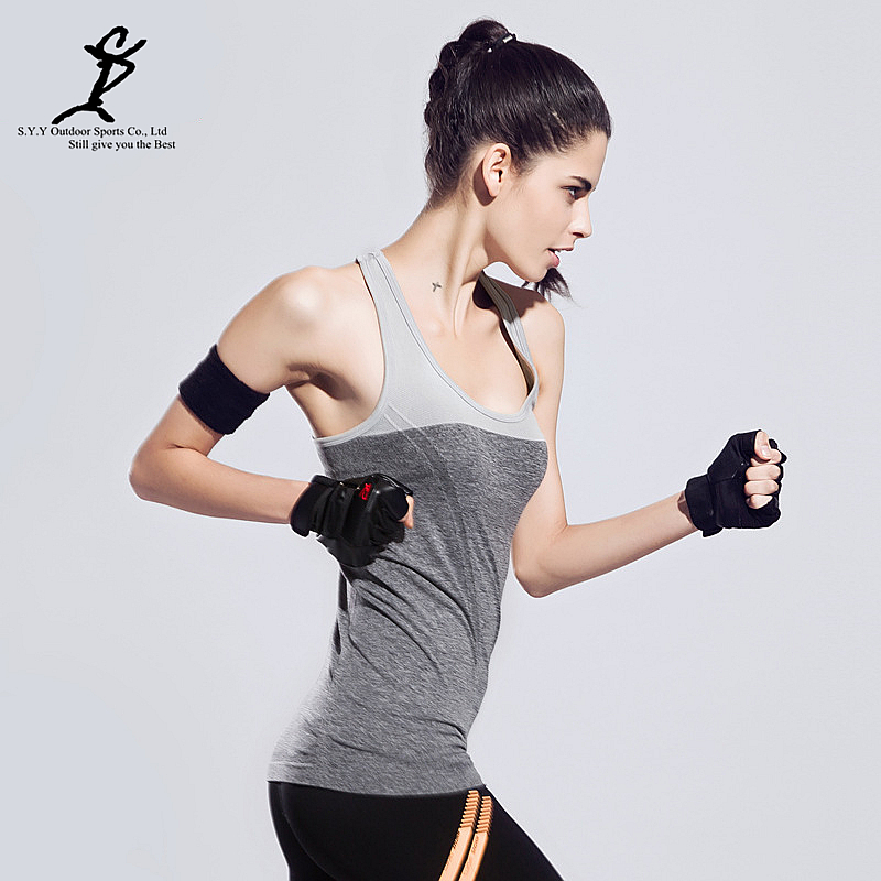 46568f2c8d5bd Women Yoga Tank Tops Sports Vest Running T Shirt Female Workout Sportswear  Training Bodybuilding Tops Sports Suits