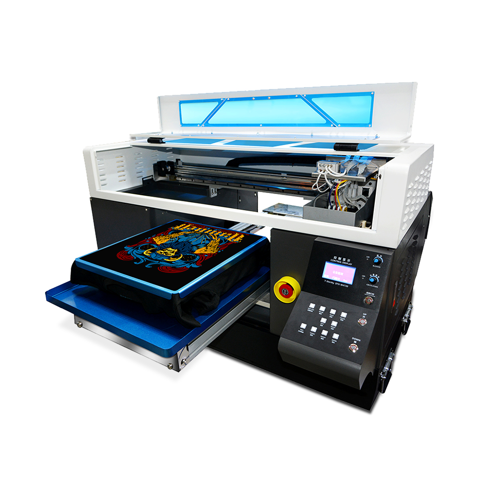 High Precision High Speed A3 DTG T-shirt Printers Automatic 8-color Flatbed Printer For White And Dark Color Clothing Textile