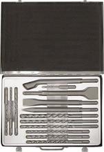 Набор буров и ударного инструмента SDS-plus. 14 предметов.