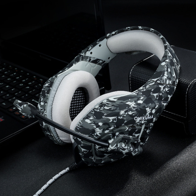 K1 Headset Bass Gaming Headphones Game Earphones Casque Camouflage PS4 with Mic 6