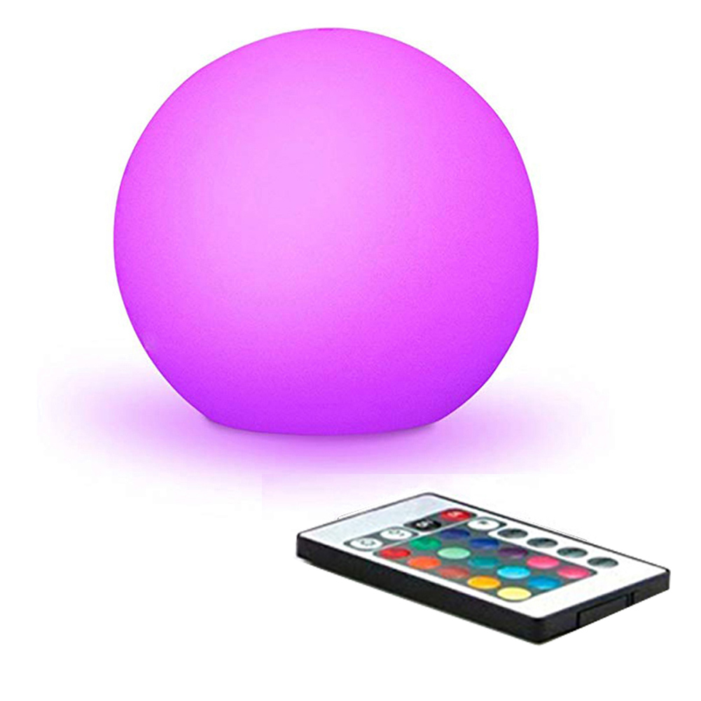 Solar Power LED Ball Lamp Color Changing/Steady RGB Light Rechargeable Pool Garden Decor Light MAL999