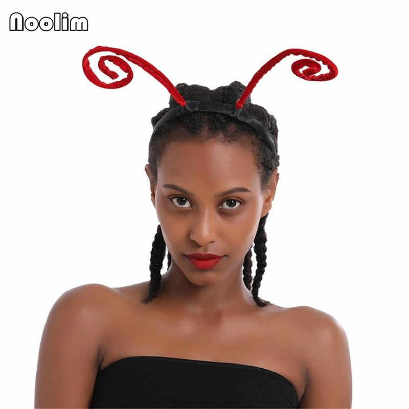 Горячая новинка головная повязка лента для волос креативная забавная странная черная Ant Antennae обруч для волос индивидуальная повязка для волос мода