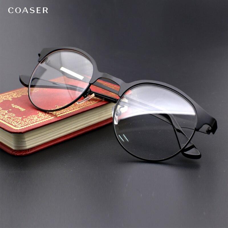 Vintage Gläser Breite Spektakel Männer Runde Metall brillen rahmen ...