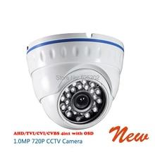 AHD TVI CVI CVBS 4 in 1 720P 1 0MP 24 IR Dome CCTV Camera with