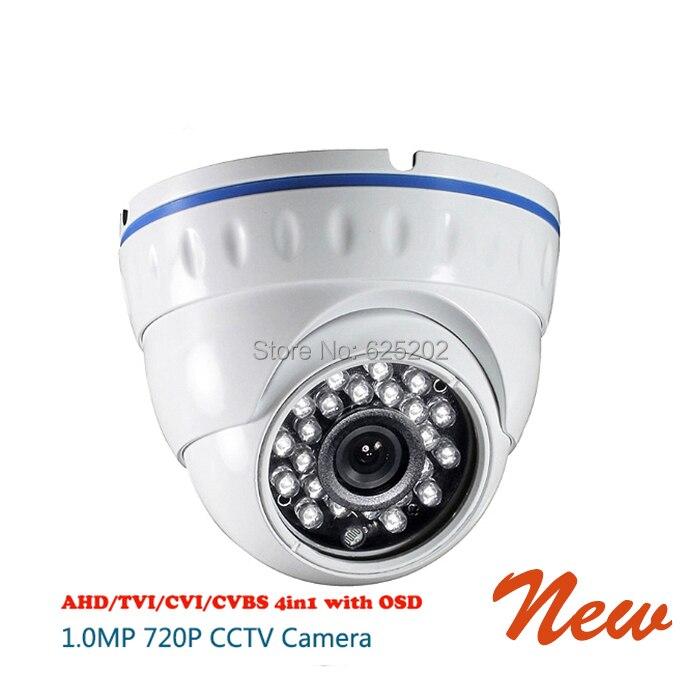 AHD TVI CVI CVBS 4 in 1 720P 1 0MP 24 IR Dome font b CCTV