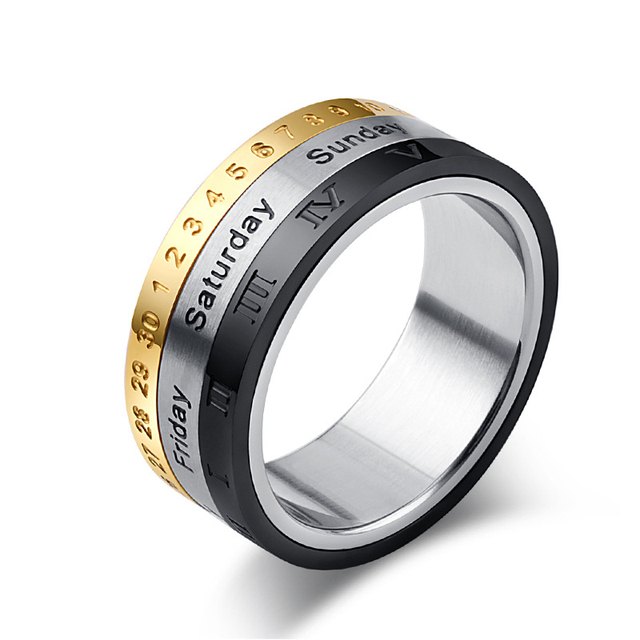 New Fashion&Funny Date Fid Ring Kids Adult Spinner Ring Toy For