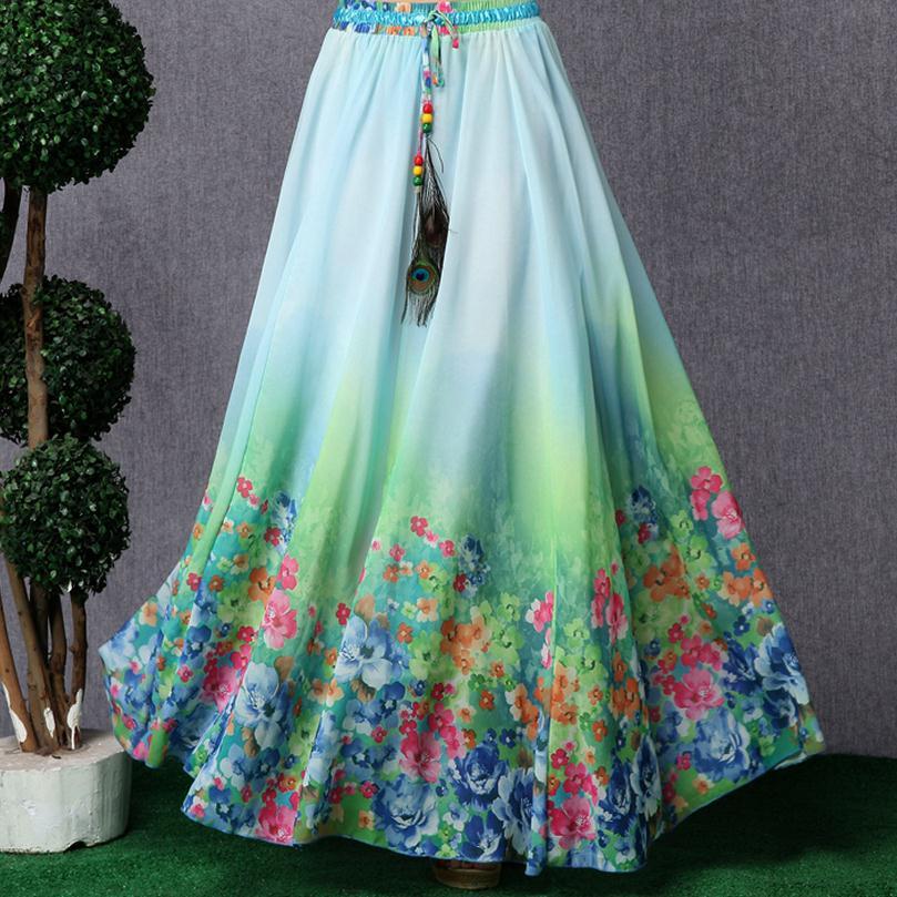 Online Get Cheap Flowy Maxi Skirt Aliexpress Com