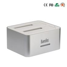 Astilla caja de disco duro usb 3.0 dual bahías 9.5mm caddy clon 2.5 caja disco duro externo usb 3.0 hdd docking