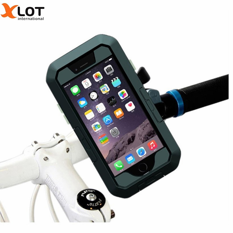 Waterproof Bicycle Phone Case Holder Support For iPhone5 5S SE 6 6PLUS 7 7PLUS Sport Phone Case protective Cover bike holder