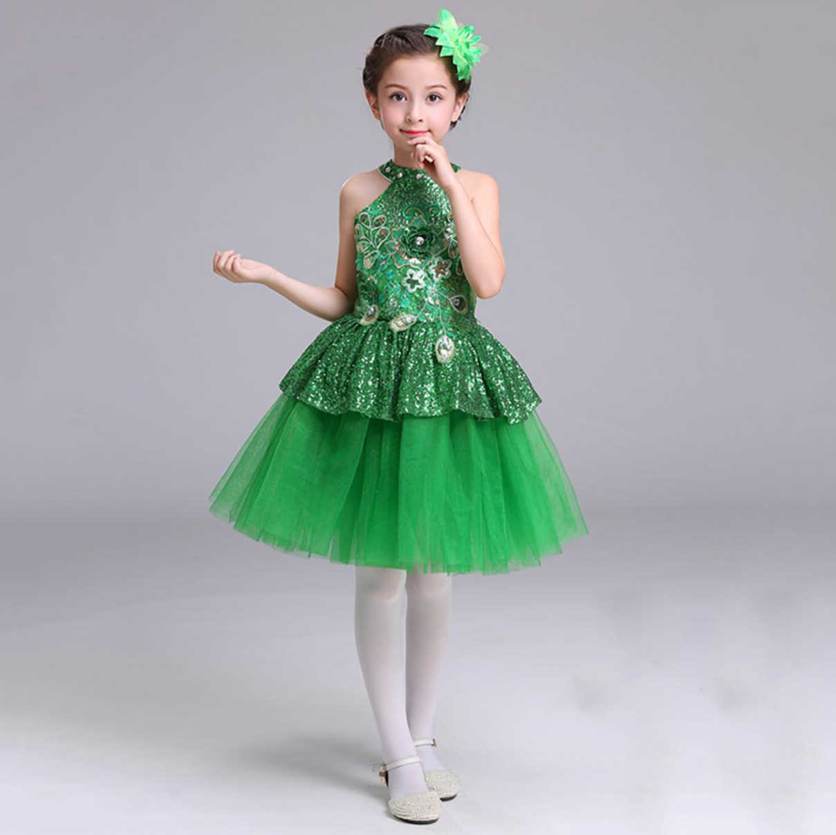 tüll-blumen-mädchen-prinzessin-rosa-kleid gelb grün blau ballroom dance  wettbewerb kleider tutu ballett mädchen kind