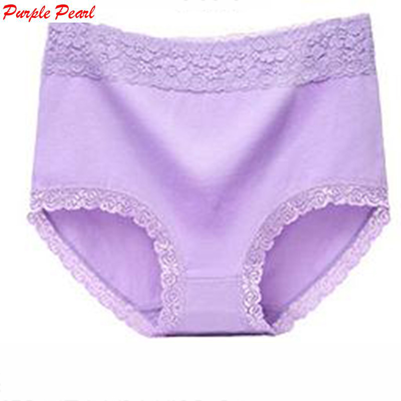 KJA040 New Arrival Underwear Women Sexy High Waist Lace   Panties   Body Shaper Briefs Women   Panties   Large Size Underpants XL-5XL