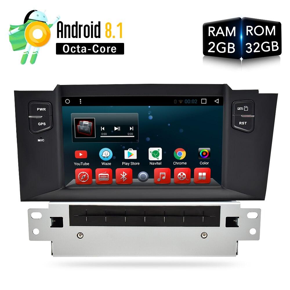 Android 8.0 8.1 DVD de Voiture Lecteur GPS Glonass Navigation pour Citroen C4L/DS4 Auto Wifi Radio Audio Vidéo Multimédia stéréo DVR