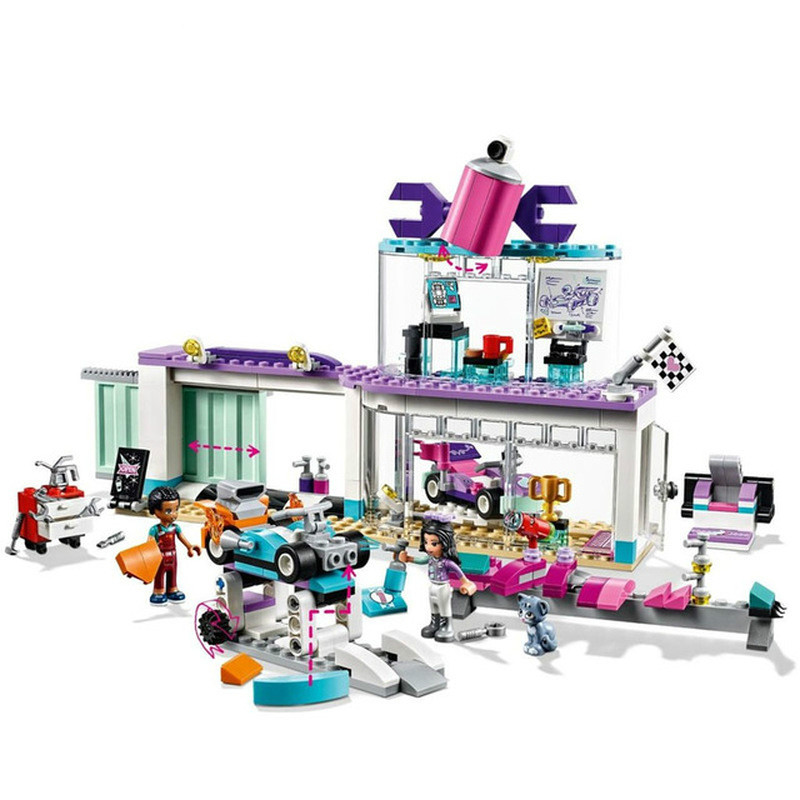 New Girl Princess Friends Creative Tuning Shop Compatible LegoINGLY 41351 Building Block Brick For Toys Christmas