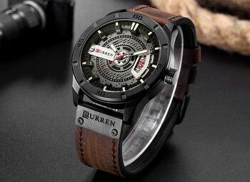 2018 Luxury Brand CURREN Men Military Sports Watches Men's Quartz Date Clock Man Casual Leather Wrist Watch Relogio Masculino 1
