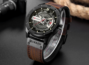 2018 Luxury Brand CURREN Men Military Sports Watches Mens Quartz Date Clock Man Casual Leather Wrist Watch Relogio Masculino